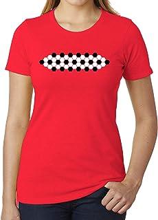 Soccer Ball Pattern, Woman's Soccer T-Shirts, Cute Soccer Shirts