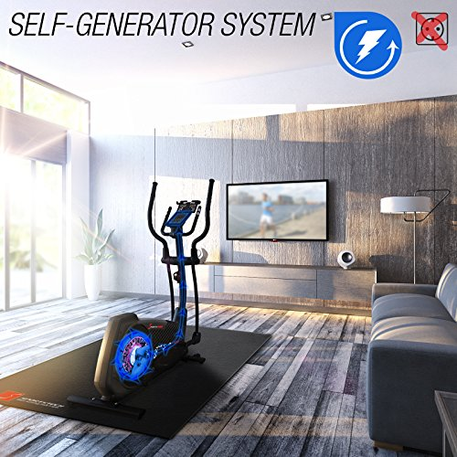 Sportstech Cx2 Cross Trainer With Smartphone App & Integrated Power Generator - Elliptical - Incl. Bluetooth Console And Tablet Holder - Ergometer With 27 Kg Flywheel Mass - With Kinomap