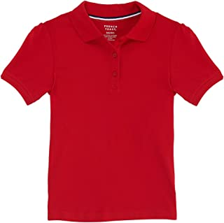 French Toast Junior's Short Sleeve Stretch Pique Polo, Red, XL