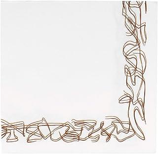 Garcia de Pou 1200unité Aristas Motif Double Point Serviettes 18g/m² en boîte, 40x 40cm, Papier, Blanc, 30x 30x 30cm