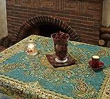 Tovaglia Lpuk Afshari Collection SERIES2 blu 100 cm × 100 CM circa quadrato in tessuto classico vintage modello