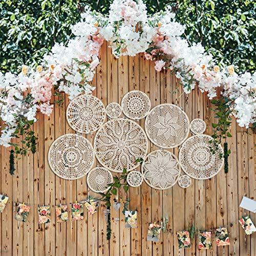 1 juego de tapices para colgar en la pared de encaje atrapasueños conjunto de decoración de fondo de boda mexicana fiesta decoraciones boho pared colgante