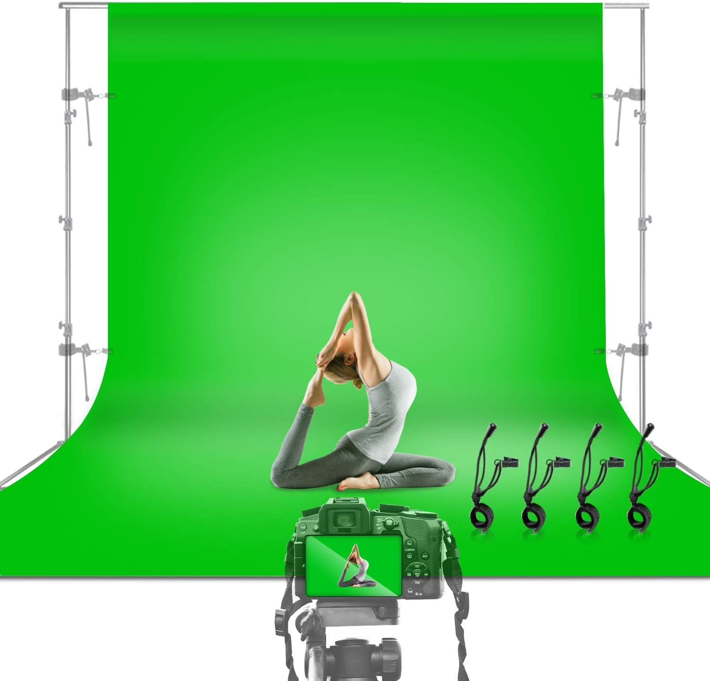 Julius Studio 10 x 12 ft. Green Screen Chromakey Backdrop Photo Video Studio Fabric Background for Movie, Photography Studio Streaming, JSAG474