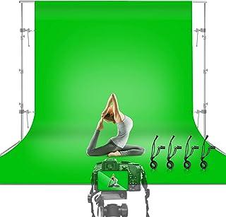 Julius Studio JSAG474 Hintergrund für Fotostudio, Hintergrundstoff für Filme, Fotografie, Studio, Streaming, 3 x 3,6 m, Grün