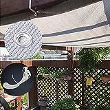Schattierungsnetz YXX Graues Hinterhof-Schattennetz mit Ösen & 5m Krawatten -  85% UV-Schutz Schatten Stoff für Gartenzäune, Rasen,...