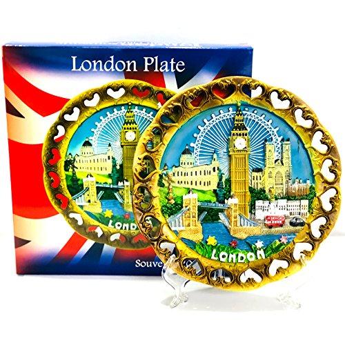 London Souvenir Teller 19 cm,Big Ben,Tower Bridge,Bus,Taxi ...
