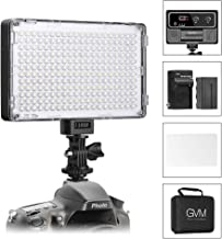 GVM LED On Camera Lights CRI97+ Dimmable 3200K-5600K Photo Video Light Panel with Battery for Photography YouTube Video Digital DSLR Camera Camcorder Photo Light