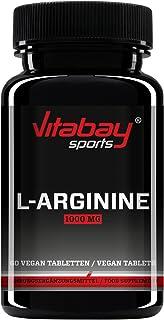 L-Arginin 1 000 hög dosering – tysk kvalitetsprodukt, allergikvänlig (60 tabletter)