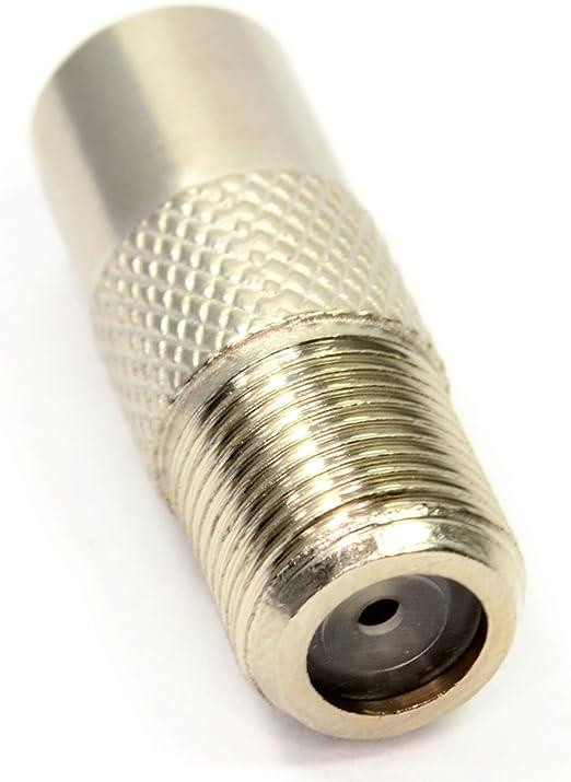 F Tipo Tornillo Conector Enchufe a RF Coax Aéreo Masculino Adaptador