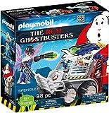 PLAYMOBIL Ghostbusters 9386 Spengler con vehículo de jaula y disparador de disco, a partir de 6 años