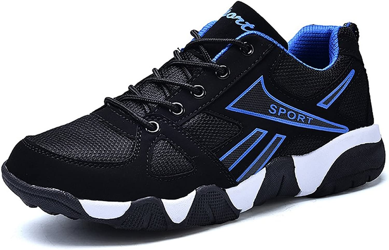 XTIANUK Mens Running shoes Youth Teenagers Shock Absorbing Mesh Upper School Gym Sport Lace Up Sneakers Size 3-10 UK