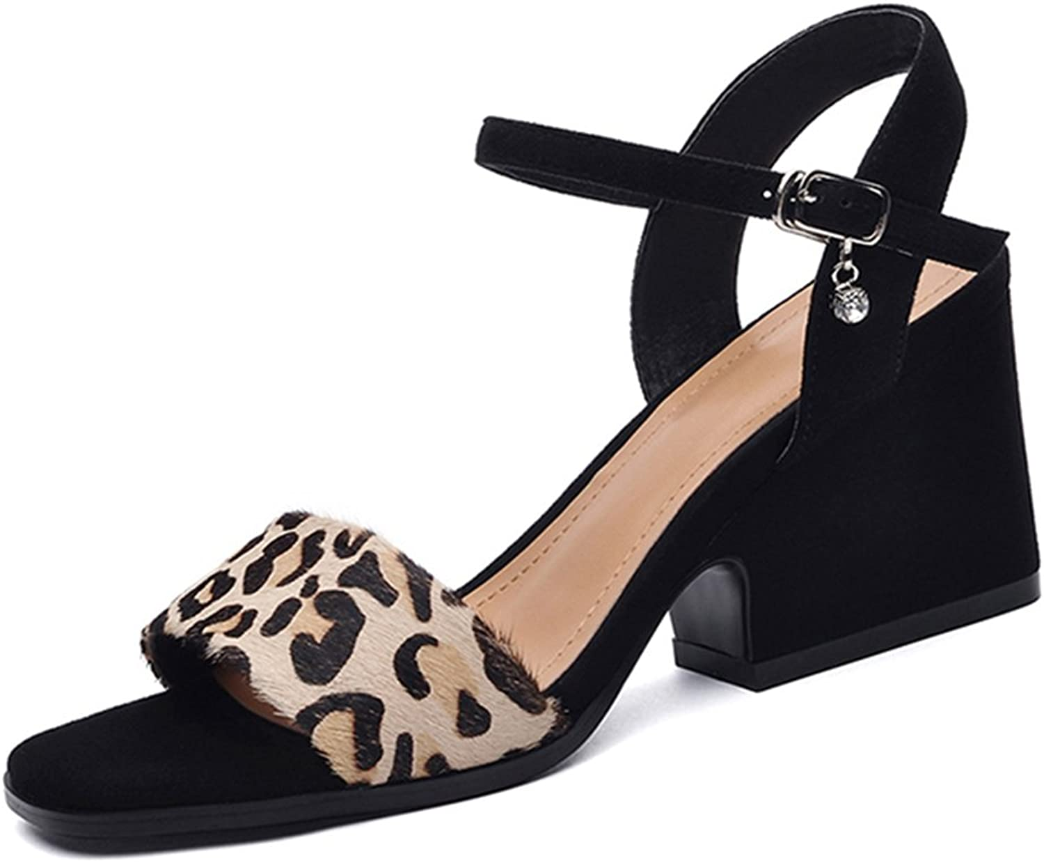 Summer Sandals Female Sexy Simple High Heels Women's shoes (color   Brown, Size   37)