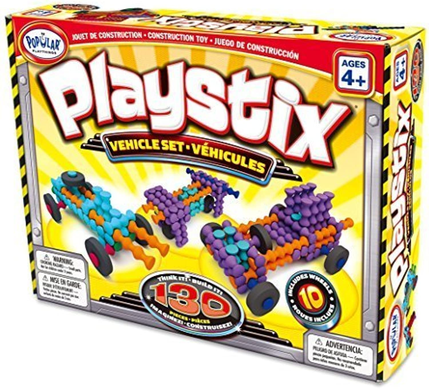 Popular Playthings Playstix Vehicles Set (130 pieces) by Popular Playthings