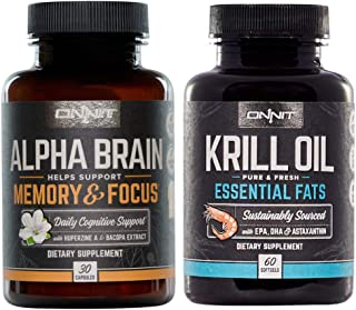 Onnit Alpha Brain + Krill Oil Stack