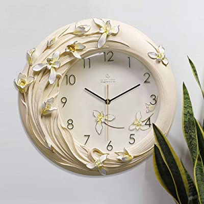 Art Clock Orchid Fashion Wall Clock Creative Hand-Painted Three-Dimensional Decorative Wall Charts