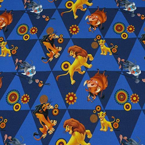 Disney Jersey, Der König der Löwen, Simba, Mufasa, Rafiki, Scar, Pumbaa, Timon (50cm x 150cm)