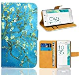 FoneExpert® Sony Xperia E5 Handy Tasche, Wallet Hülle Flip Cover Hüllen Etui Ledertasche Lederhülle Premium Schutzhülle für Sony Xperia E5