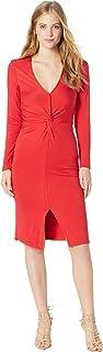cupcakes and cashmere womens Janette long sleeve interlock knit twist dress Dress