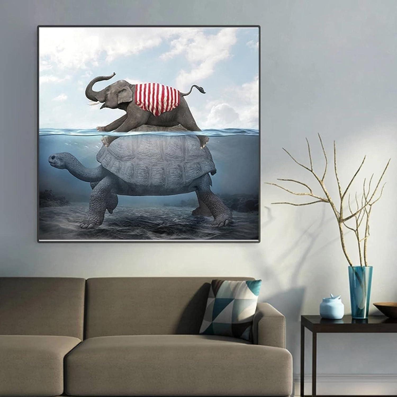 konkneleuh Canvas wholesale Painting Elephant Wa Elephants Funny lowest price Traveling