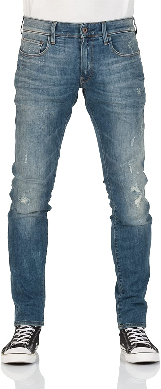 G-Star Herren 3301 Dekonstruierte Super Slim Jeans, Blau B079P9SJNC  König der Quantität