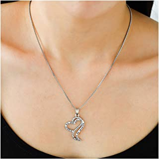 Edary Love Pendant Necklace Heart-Shaped Jewelry for Women and Girls