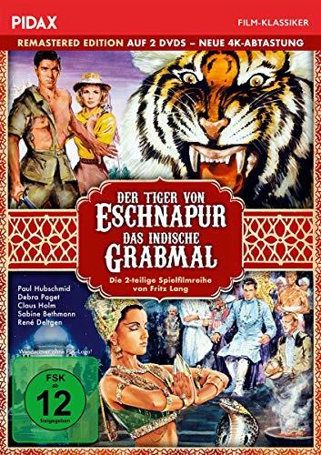 Der Tiger von Eschnapur + Das indische Grabmal - Remastered Edition (neue 4K Abtastung) / Die komplette 2-teilige Abenteuerfilmreihe (Pidax Film-Klassiker) [2 DVDs]