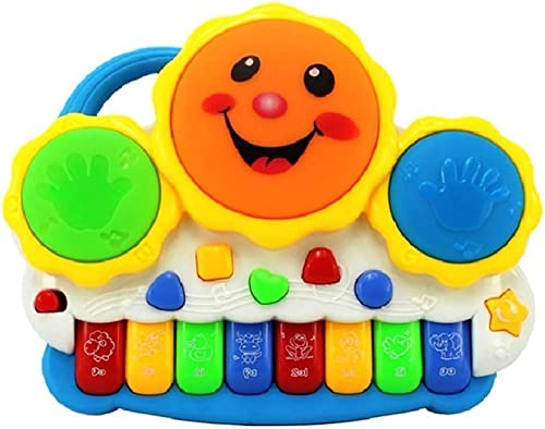 Webby Drum Keyboard Musical & Light Toys, Multicolor