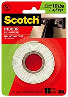 3M Scotch Heavy Duty Mounting Tape, 1-Inch by 50-Inch, 2-PACK