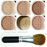 XXL KIT with BRUSH (BEIGE) Full Size Mineral Makeup Set Bare Face Powder Matte Foundation Cover