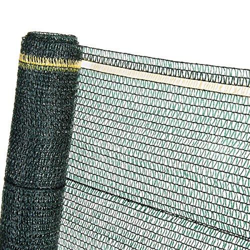 HaGa® Schattiernetz 3m x 1m (Meterware) mit 40{69dd20b9a4d5f341018ea5c2864181e1d5e3adfe5ae346c36a87a8568dda1ab2} Schattierwirkung in grün - Sonnenschutzgewebe Sichtschutz für Zaun - Abdunkelung im Gewächshaus oder Gemüsegarten