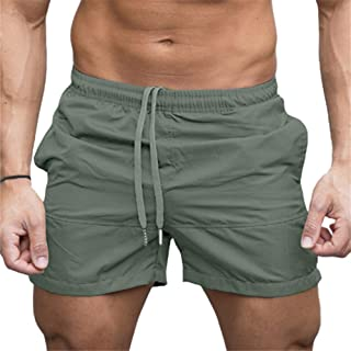 Hapeisy Mens Casual Shorts Elastic Waist with Drawstring Slim Fit Summer Pants