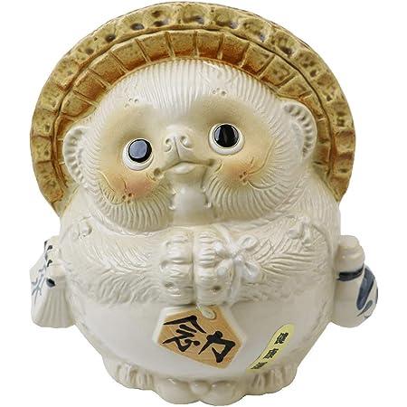 信楽焼 風水狸(白)【ta-0090】 しがらき 信楽焼き 陶器 しがらきやき たぬき タヌキ 置物 置き物 おきもの 縁起物 進物 ギフト