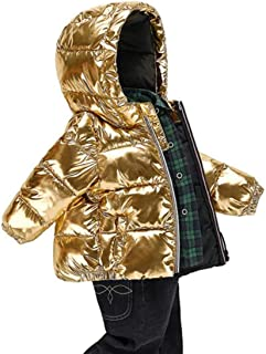 pipigo Boy and Girl Cotton-Padded Down Jacket Camo Hooded Thicken Parka Coat