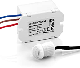 deleyCON Mini Infrarot Bewegungsmelder - Innenbereich - Reichweite 6m bei 360° - Kleinstbauweise - Fast unsichtbar - IP20 - Unterputz - Weiß