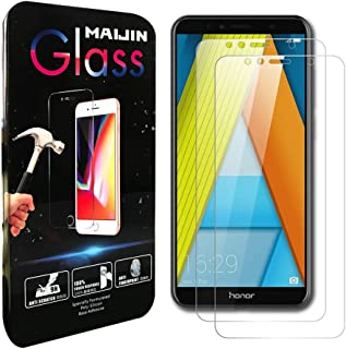 Compatible with Honor 7A Screen Protector Foils, (2 Pack) 9H Hardness Tempered Glass Film for Honor 7A, Huawei Y6 (2018)