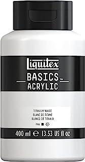 Liquitex 220727 Basics Acrylic Paint, 13.5-oz Bottle, Titanium White, 13 Fl