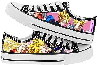 XYUANG Dragon Ball Super Son Goku/Torankusu Zapatos de Lona impresión de Anime 3D Unisex Planos de Ocio clásicos Zapatilla...