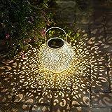 Solarlaterne für außen, Solarlampe IP44 Wasserdichte Solarleuchten Gartenleuchte Solar Warmweiß Solar laterne für Garten Deko