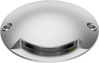 Extra-Sottile 1-Beam 7cm /Ø Bianca Calda ledscom.de LED Boden-Aufbauleuchte BUNDA 3000K Nero Alluminio Kit di 8 lampade da Esterno Tondo