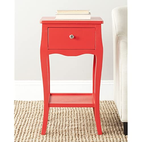 Amazon Com Safavieh American Homes Collection Thelma End Table Hot Red Furniture Decor