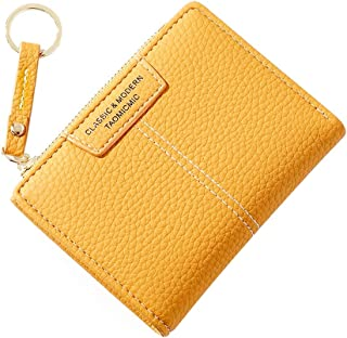 Small Wallets for Women Bifold Leather Short Wallet Lady Mini Purse with Coin Pocket Key Ring
