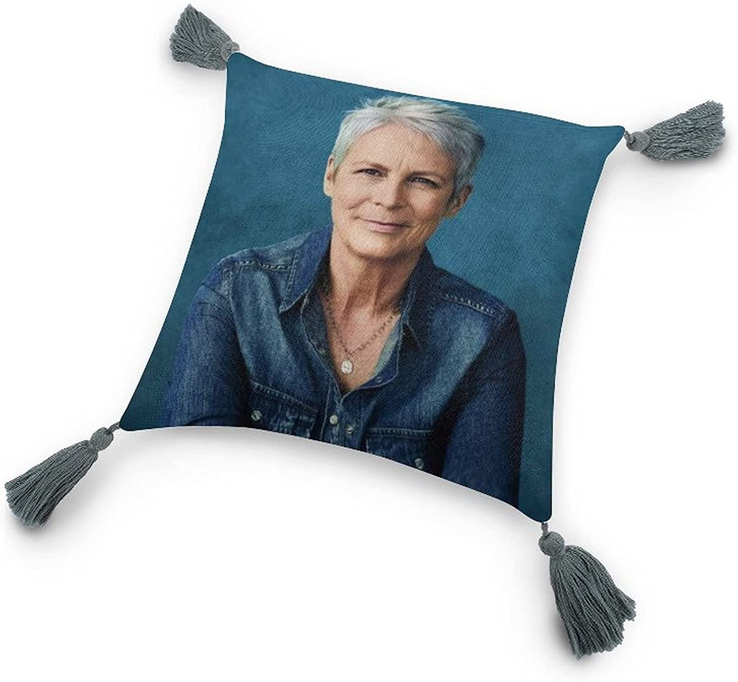 Jamie Lee Curtis1 Soft cotton Animer and price revision Max 90% OFF linen decoration pillow square and