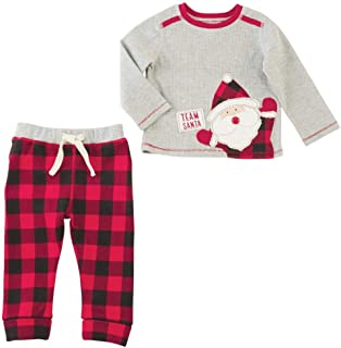 Mens Christmas Team Santa Long Sleeve Two-Piece Set (Infant)