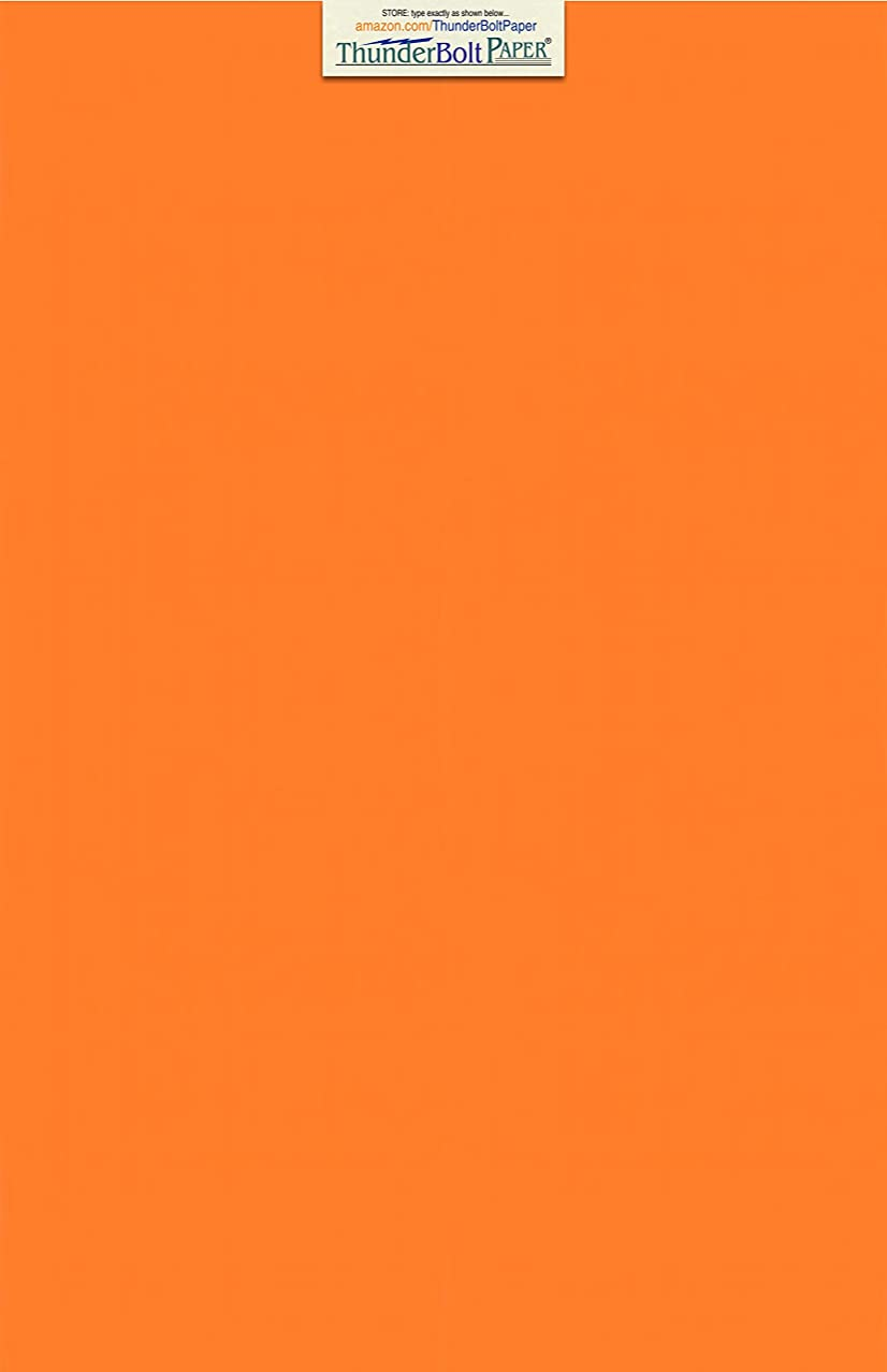 25 Bright Orange Color Cover/Card Paper Sheets - 12 X 18 Inches Large|Poster Size - 65# (65 lb/pound) Light Weight Cardstock - Quality Printable Smooth Paper Surface for Bright Colorful Results
