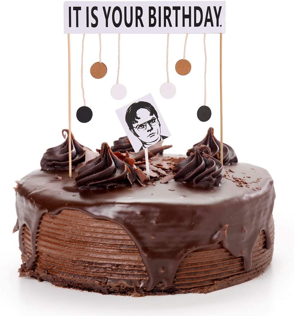 It Rare Is SALENEW very popular Your Birthday Cake Topper Office Schrute Dwight Birt Theme