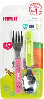 Farlin Spoon and Fork Set Stainless 4m+