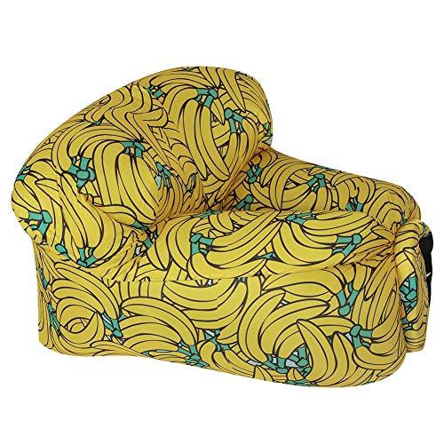 Sofa Hinchable,Sofá de Aire Inflable al Aire Libre Portátil Impermeable Silla de Cama Tumbona Hinchable para Playa Cámping Viajes Piscina Senderismo(Amarillo plátano)