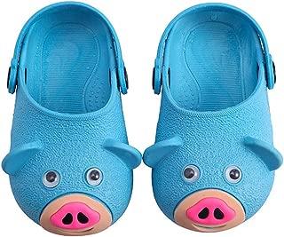 Hopscotch Boys and Girls PVC Animal Applique Clogs - Blue