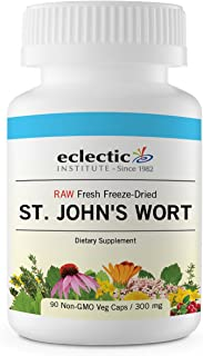 Eclectic St. John's Wort 300 Mg Freeze Dried Vegetables, Pink, 90 Count