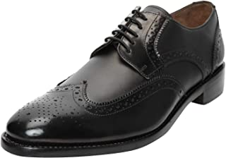 Men's Genuine Imported Leather with Leather Sole Goodyear Welted Oxford Dress Shoes